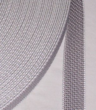 Profi-Produkte-Vertrieb Rudolph - Cinta de persiana (50 m, 23 mm de ancho, resistencia de hasta 450 kg, resistente a los rayos UV, suciedad y abrasión, protección de perlón en los bordes), color gris