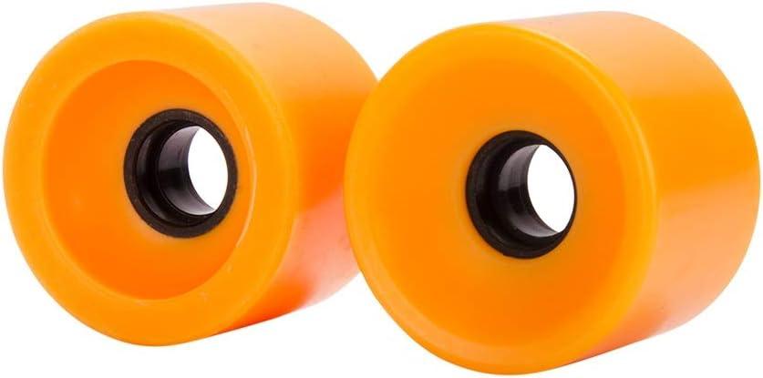 NO LOGO LMY-HUABAN, 4 Piezas Superventas 68x55mm Ruedas de Skate Longboard Ruedas de Carretera Profesionales Ruedas 78A (Color : Orange)