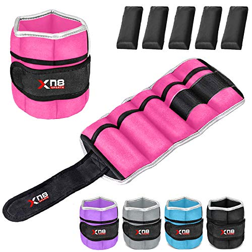 Xn8 Ankle Weights Adjustable Wrist Strap 1.5kg-2.5kg Leg Weight Sets for Fitness...