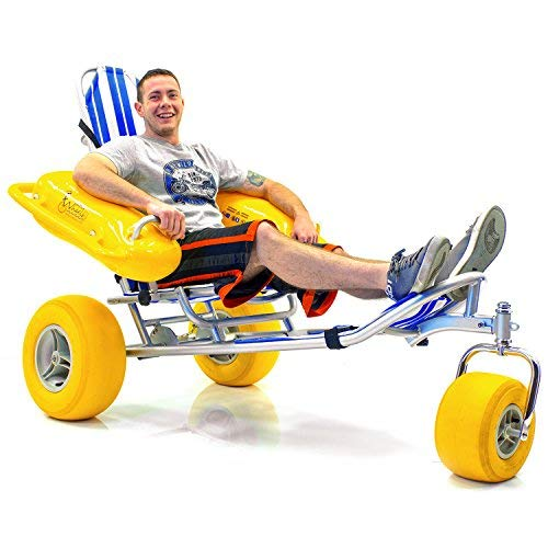 WaterWheels Floating Beach Wheelchair and Cart