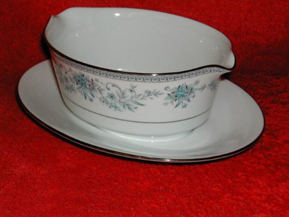 Noritake Blue Hill #2482 Gravy Boat With Stand - 1 Pc