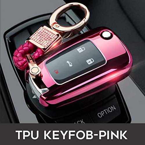 Funda protectora de TPU para llave de coche, para Chevrolet Smart Key Fob, entrada remota sin llave, para Buick, Cruze Aveo, Trax, Opel Astra Corsa, Meriva, Zafira Antara (rosa)
