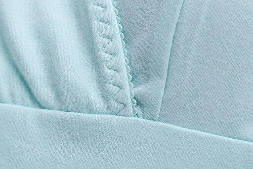 KUCI マタニティ タンクトップ, KUCI® 授乳口 付き インナー 授乳服 産前産後 ー 綿, クロスオープン インナー 妊婦 Green, L [4220]