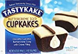 Tastykake Creme Filled Chocolate Cupcakes With Buttercream Icing Family Pack/12 Buttercream Iced...