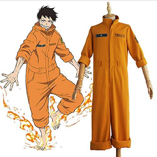 ZLLZM Yan Yan Feuerwehr Anime Cosplay Kostüm Feuerwehr Anzug Overall Für Halloween,Women,M