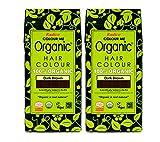 radico Color Marrón Oscuro 2unidades Colour Me Organic Planta Color del pelo (bio, Vegano), natural Maquillaje dunkelbx2
