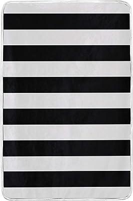 be151d563d1b Amazon.com: senya Luxury Blanket Home Decor Black White Stripes ...