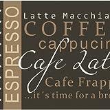 Küchenläufer 120×50 cm Kaffee Braun Coffee Küchenmatte Küchenteppich - 3