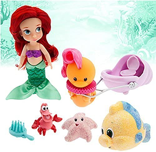 Official Disney The Little Mermaid Ariel Mini Animator Doll Playset With Accessories by Disney