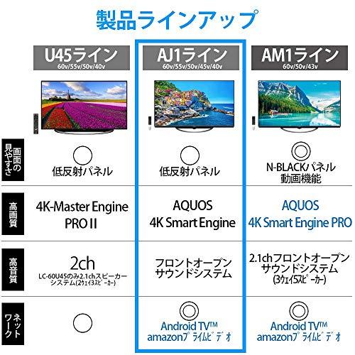 『シャープ 50V型 液晶 テレビ AQUOS 4T-C50AJ1 4K Android TV 回転式スタンド 2018年モデル』の7枚目の画像