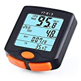 Sikye-Sports Bicycle Speedometer Wireless Bike Computer Waterproof Bike Odometer Speedometer Multi-Functions with Backlight Stop Watch Calorie Counter for Cycling (Black)