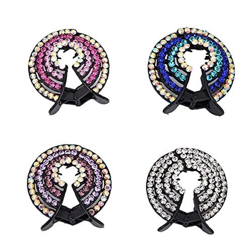 DierCosy Tools Paquet de 4 Ponytail Hair Clip Filles Barrettes Pins Clips Pince à Cheveux Porte-Chignon Accessoires Cheveux pour Les Femmes Ladies Filles