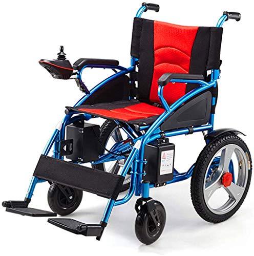 RDJM De Peso Ligero Plegable sillas de Ruedas eléctrica Silla de Ruedas eléctrica Plegable/Silla de Ruedas eléctrica, Adaptada for minusválidos y Personas Mayores