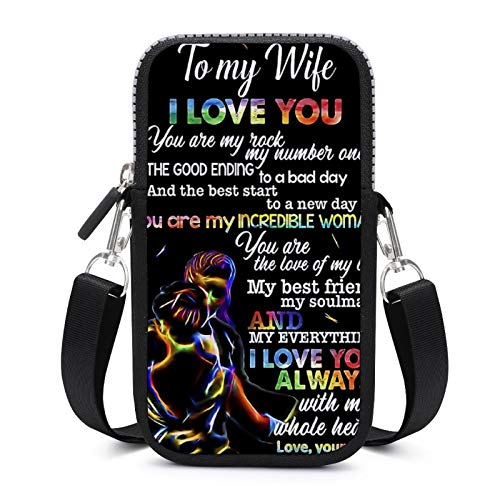 Cellphone Purse Crossbody with Removable Shoulder Strap Love Wife Sweat-Proof Pouch Case for Key Waist Wallet Outdoor Bags Women
