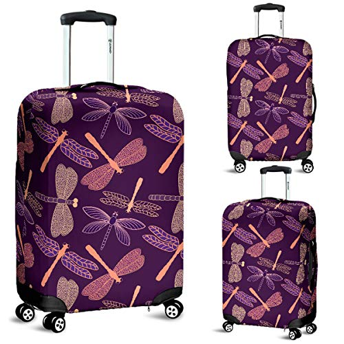 Dragonfly Luggage Suitcase Cover Protector Decor Dragonflies Gift Item (Large)