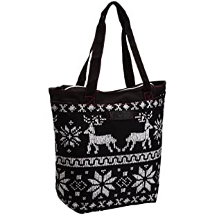 Rocket Dog Women's Shopper Tote Bag Winter Knit Print - Sassafras