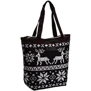 Rocket Dog Women's Shopper Tote Bag Winter Knit Print - Sassafras:Warezcrack