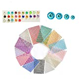 Scettar Self-Adhesive Rhinestones for Crafts Bulk Pack Assorted 3300PCS - 20 Colors, 4 Sizes Gems Acrylic Craft Crystal Gem Stickers Gemstone Embellishments Will Stick on Anything(33)