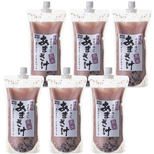 御殿桜 酒屋が造った黒米甘酒 1000g×6個