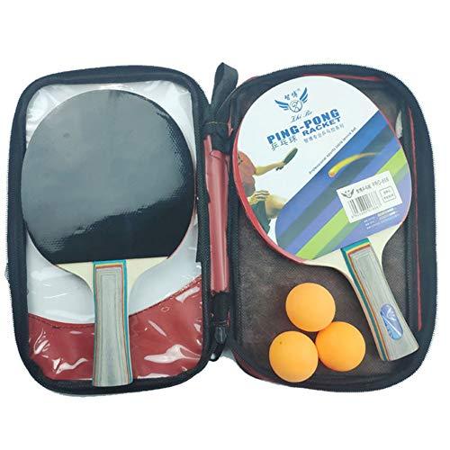 angyunjiule – Juego de tenis de mesa, 2 raquetas de tenis de mesa, 3 pelotas de tenis de mesa, ideal para principiantes, familias y profesionales