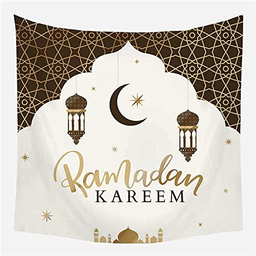 KHKJ Tapiz de Ramadán Manta con símbolo de Luna Toalla de Playa de Viaje Decoración étnica para el hogar Tapices de Ventana Colgante de Pared A8 230x180cm