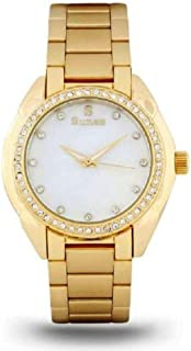 Suenx watch for women, analog, stainless steel, white dial