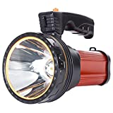 Eornmor Outdoor Rechargeable Flashlights High Lumens Spot Light 6000 Lumens High Powered Led Rechargeable Spotlight Handheld Searchlight Torch, 9000mah 35W (Red)