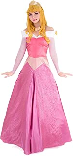 Cosplay.fm Women's Aurora Pink Dress Briar Rose Costume with Crown