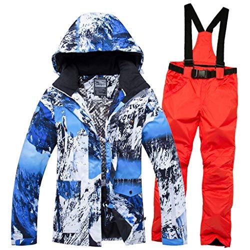 JXS-Outdoor Dames Skikleding - Winter Kleding Sneeuw Ski Suit - Waterdichte Ski Jassen Broek - Winddicht, Waterdicht En Warm, Oranje, S