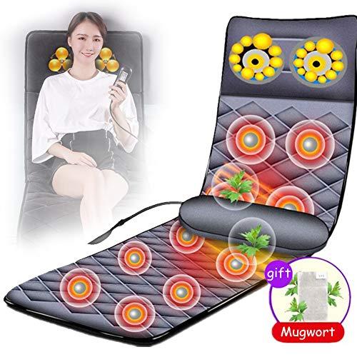 HGJDKSJ massagemat met warmte, instelbaar multifunctioneel massagepad met automatische timing en eenvoudige opslag. Geschikt voor op kantoor thuis om stress te verminderen.