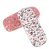 Xinzistar - 2 fundas rígidas para gafas de sol para hombre y mujer, con diseño de flores Pequeñas flores – blanco + rosa. Talla única