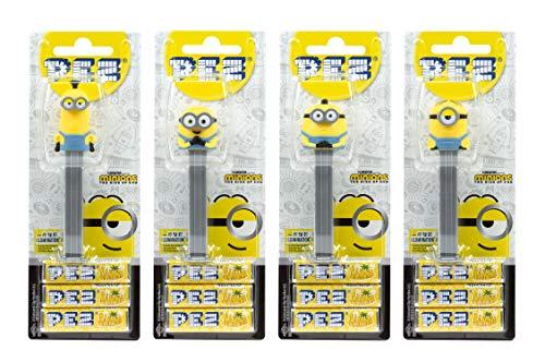 PEZ Spender Set Minions(4 Spender mit je 3 PEZ Banana Bonbons á 8,5g ) + 2 Nachfüllpacks (8 PEZ Bonbons á 8,5g)