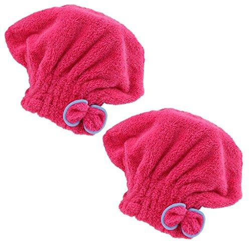 Gazechimp 2xHair Turban Toalla Wrap Secado Rápido Microfibra Absorbente Cabello Seco