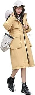 LUKEEXIN Fashion Long Sections Fur Collar Down Jacket Winter Coat for Womens, Girls