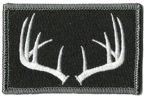Tactical Wildlife Antlers Patch - Black
