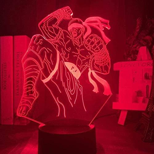 Juguetes Luz De Noche Juego De Lámpara De Noche 3D The Blind Monk Figura Luz De Noche Led Niños Amigo Regalo De Cumpleaños Cool Kids Lámpara De Mesa Lee Sin 7 Cambio De Color Lámpara De Decoración Par