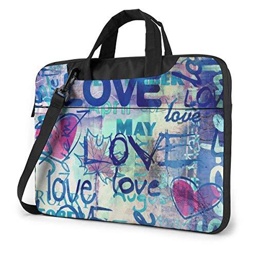 Love Laptop Bag 15.6 Inch Shoulder Messenger Bag Computer Tote Briefcase for Work School