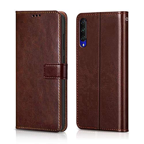 WOW Imagine MI A3 Case | Leather Finish | Inside TPU with Card Holder | Wallet Stand | Shock Proof...
