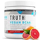 Truth Nutrition Fermented Vegan BCAA Powder- 2:1:1 Ratio All Natural Branched Chain Amino Acids for Energy, Muscle Building, Post Workout Recovery and Endurance (Blood Orange, 30 Servings)