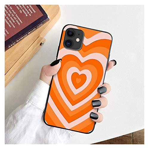 Glqwe Caja de Flores Silvestres de Amor para iPhone 12 Mini Pro MAX 6 7 8 11 S Plus XR MAX Case Funda Protectora Linda (Color : HSR 25467, Material : For iPhone 11Pro)
