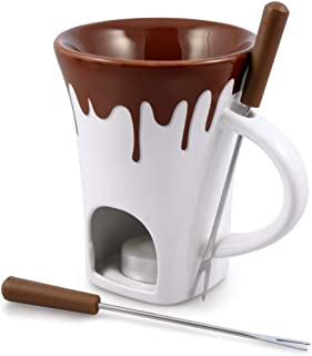 Swissmar 4-Piece Nostalgia Chocolate Fondue Mug Set