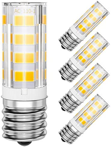 SHINESTAR 4 Pack E17 LED Microwave Light Bulb 125V 40W Equivalent 3000K Warm White Stove Light product image