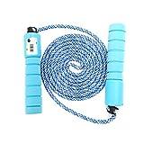 Sportplay Springseil für Kinder, integrierter Zähler, verstellbar, Kabel für Fitness, Boxen, Crossfit, Gym, Double Unders, hellblau
