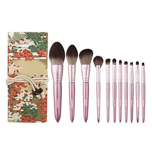 LXC Ensemble de 11 pinceaux à Maquillage à séchage Rapide, Doux et Doux pour la Peau, Outil d'application cosmétique Professionnel