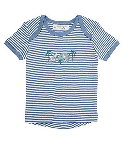 SENSE ORGANICS Tilly Baby T-Shirt mit Schlupfkragen, Blau (Grey Blue-ecowhite Stripes 192020), 74 cm (Taille du Fabricant: 6M) Bébé garçon