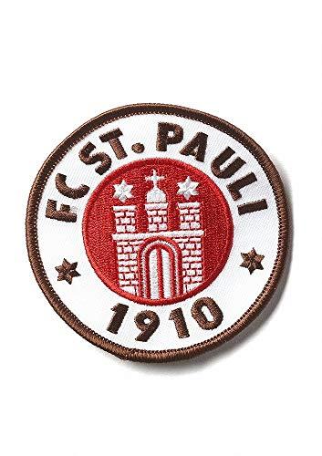 FC St. Pauli Aufnäher, Patch Logo 5 cm farbig - Plus Aufkleber Fans gegen Rechts