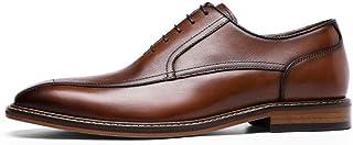 Kirabon Zapatos de Hombre Formales Suela de Goma de Negocios Zapatos de Hombre Casual (Color : Marrón, Size : 43)