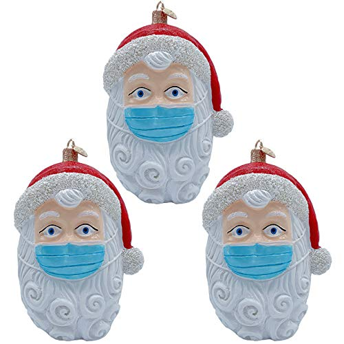 ZAONE 2020 Santa Claus Ornament Christmas Tree Hanging Decoration Pendant Personalized Xmas Gifts Santa Home Decor (3 PCS)