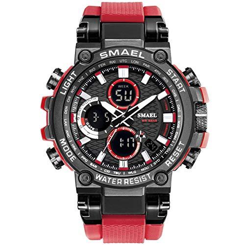 SMAELBand Digital Army Watch Men Orologi Sportivi a LED Orologio Impermeabile Orologio da Polso Militare da Uomo,Rosso