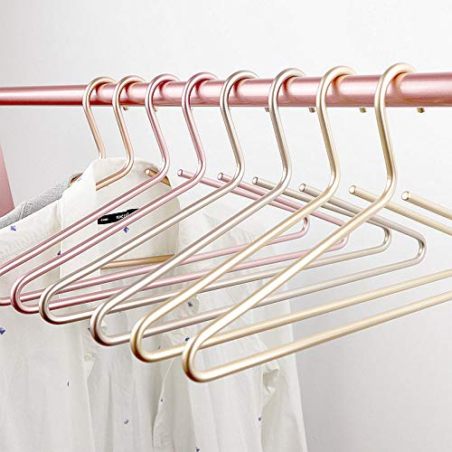zhaoyangeng 42 cm lange levensduur van massief aluminium kledinghangers huishouden kledingwinkel metaal pak kledinghangers eenvoudige stijl vet verdikte garderobe 5 ㎡ @Luxury_Gold